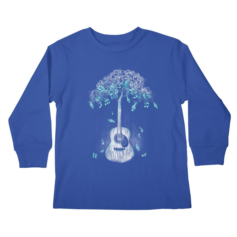 Sound of Nature Kids Longsleeve T-Shirt by Jun087