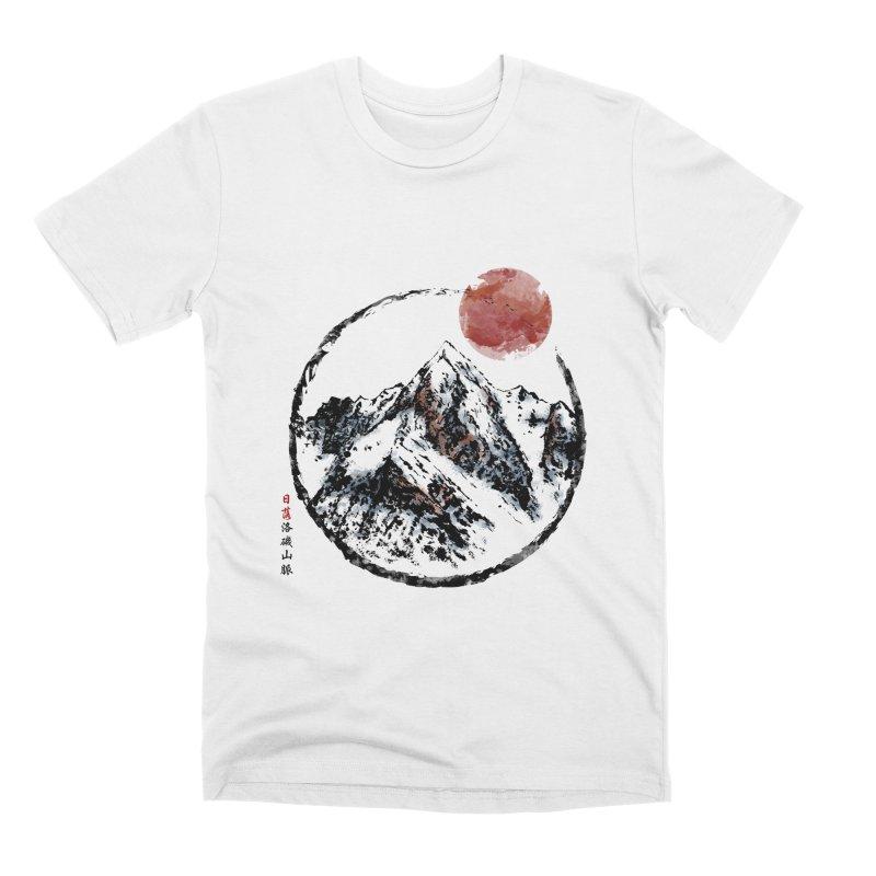 Sunset in Rocky Mountain Men's T-Shirt by Jun087