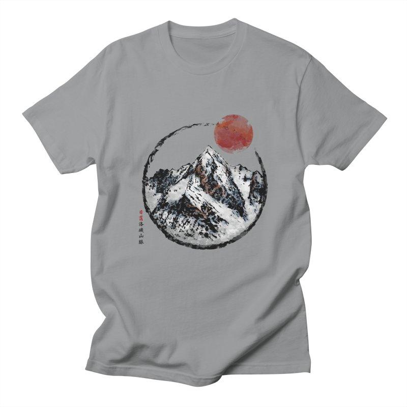 Sunset in Rocky Mountain Men's Regular T-Shirt by Jun087