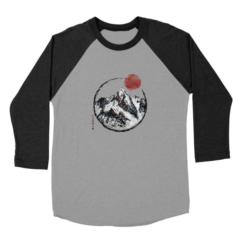 Sunset in Rocky Mountain Men's Baseball Triblend Longsleeve T-Shirt by Jun087