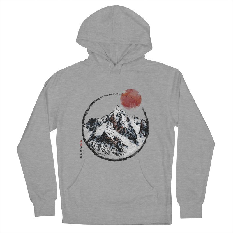 Sunset in Rocky Mountain Men's French Terry Pullover Hoody by Jun087