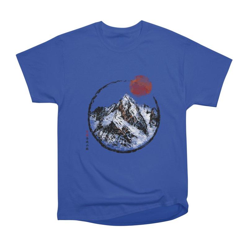 Sunset in Rocky Mountain Men's Heavyweight T-Shirt by Jun087