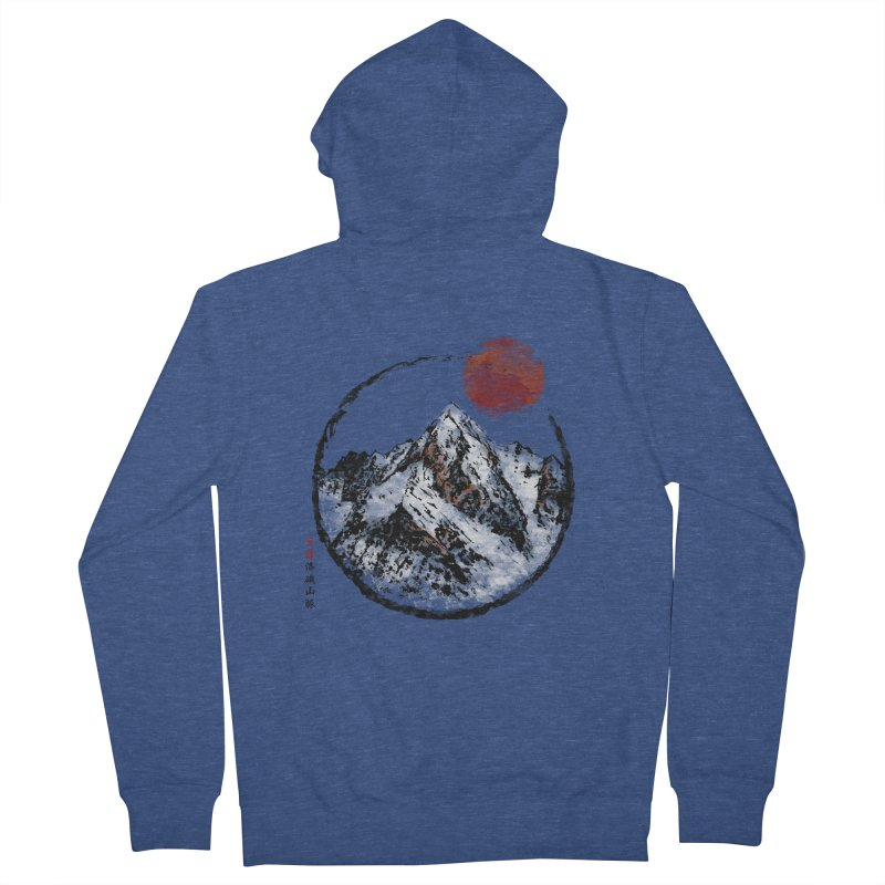 Sunset in Rocky Mountain Women's French Terry Zip-Up Hoody by Jun087