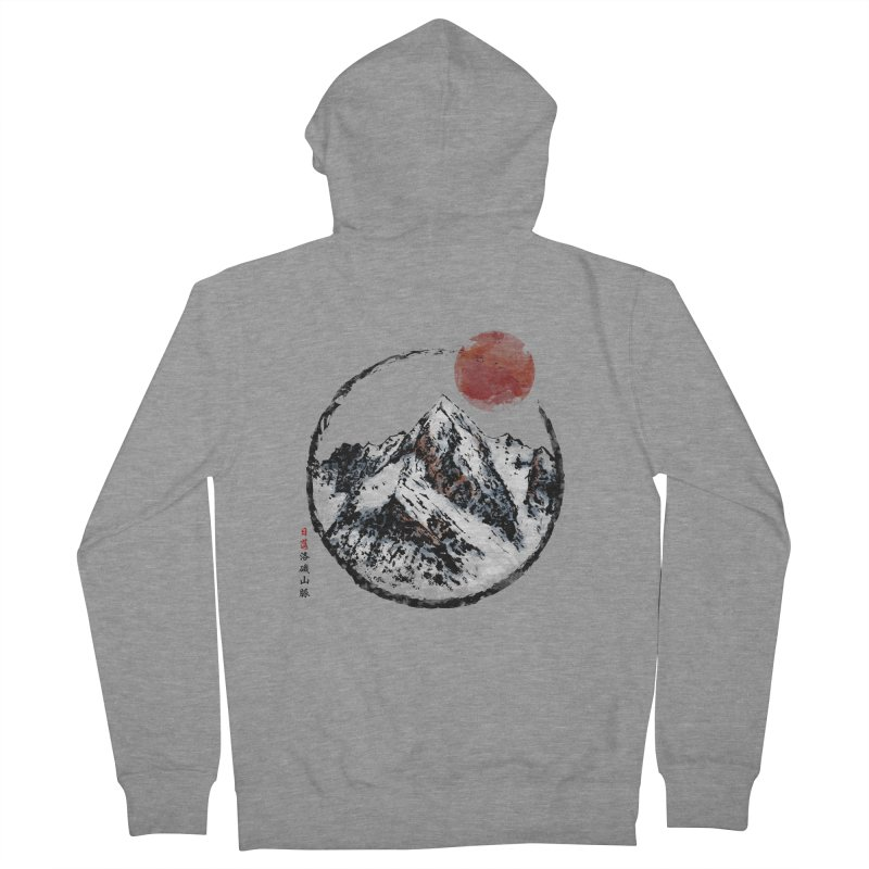 Sunset in Rocky Mountain Men's French Terry Zip-Up Hoody by Jun087