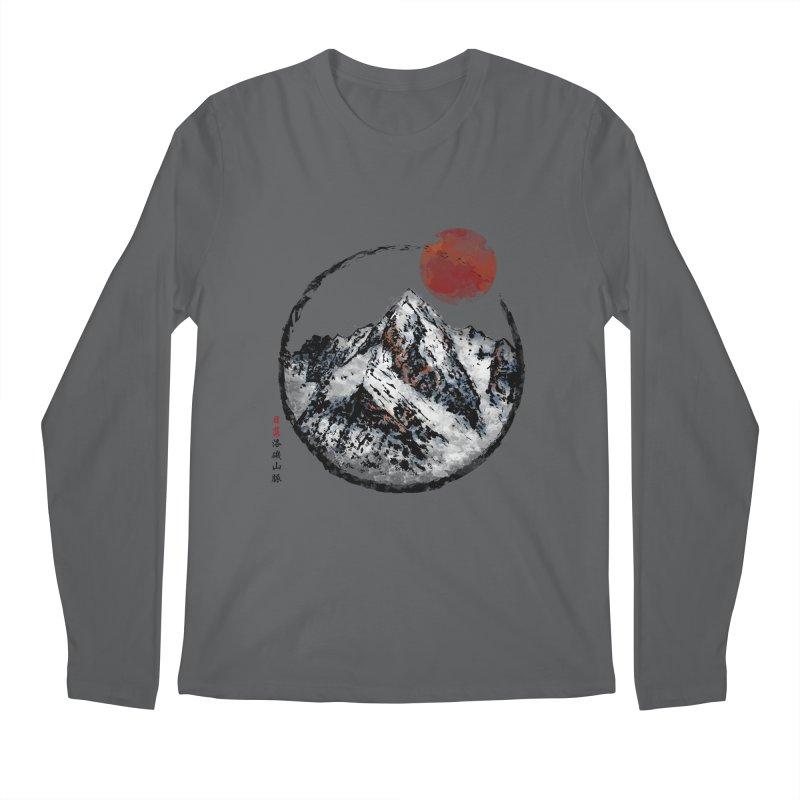 Sunset in Rocky Mountain Men's Longsleeve T-Shirt by Jun087