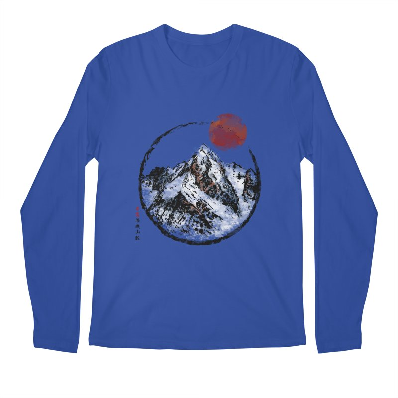 Sunset in Rocky Mountain Men's Regular Longsleeve T-Shirt by Jun087