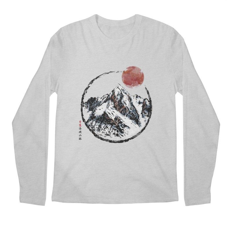 Sunset in Rocky Mountain Men's Regular Longsleeve T-Shirt by Jun087
