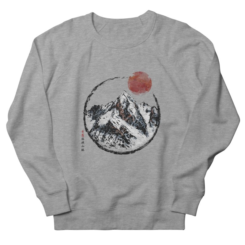 Sunset in Rocky Mountain Women's French Terry Sweatshirt by Jun087