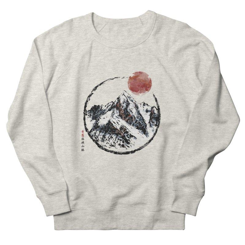 Sunset in Rocky Mountain Women's French Terry Sweatshirt by Jun087