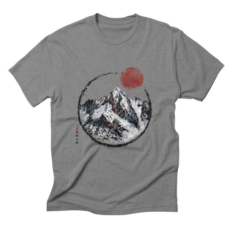 Sunset in Rocky Mountain Men's Triblend T-Shirt by Jun087