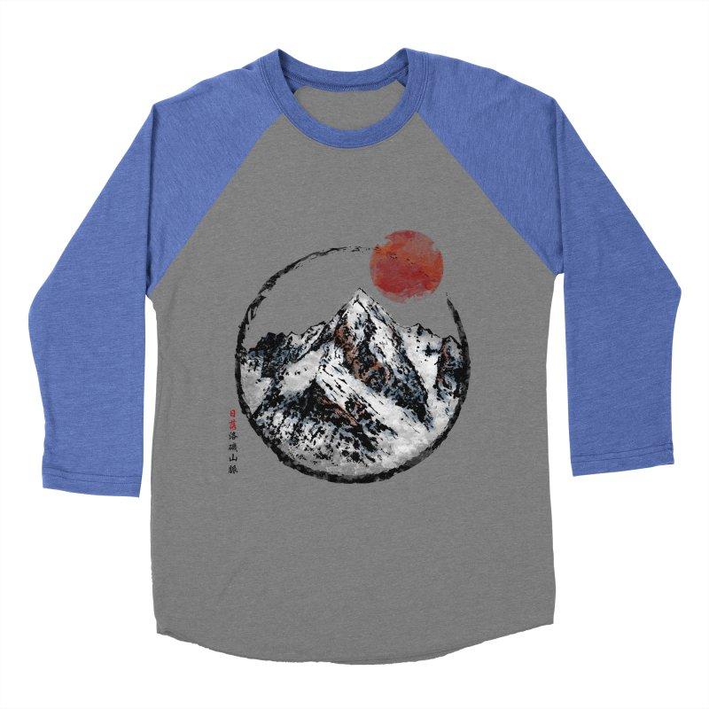 Sunset in Rocky Mountain Women's Baseball Triblend Longsleeve T-Shirt by Jun087