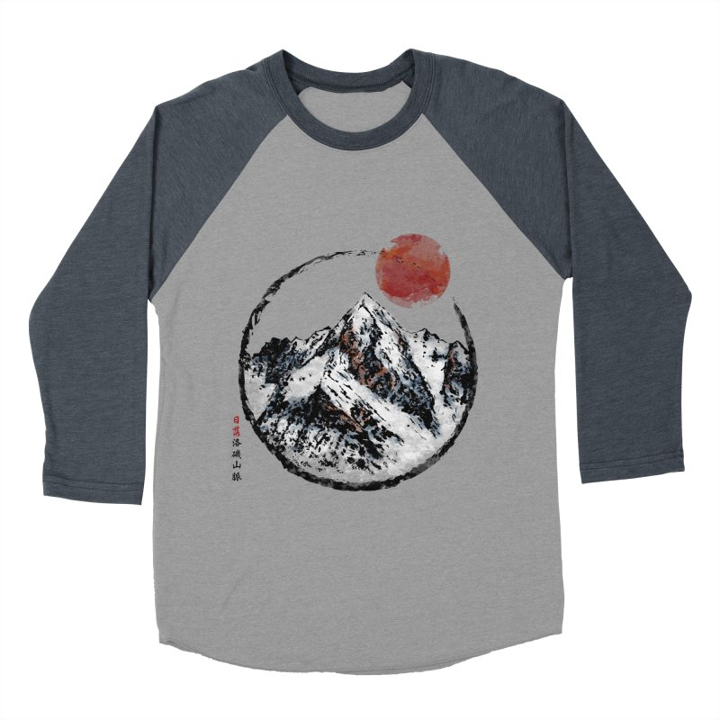Sunset in Rocky Mountain Women's Baseball Triblend Longsleeve T-Shirt by Jun087