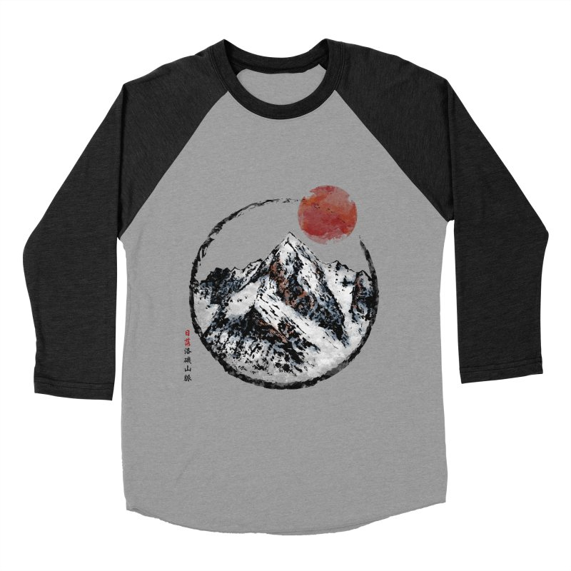 Sunset in Rocky Mountain Men's Baseball Triblend Longsleeve T-Shirt by Jun087