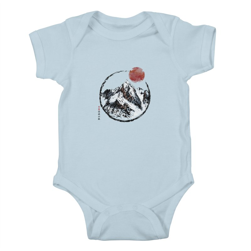 Sunset in Rocky Mountain Kids Baby Bodysuit by Jun087