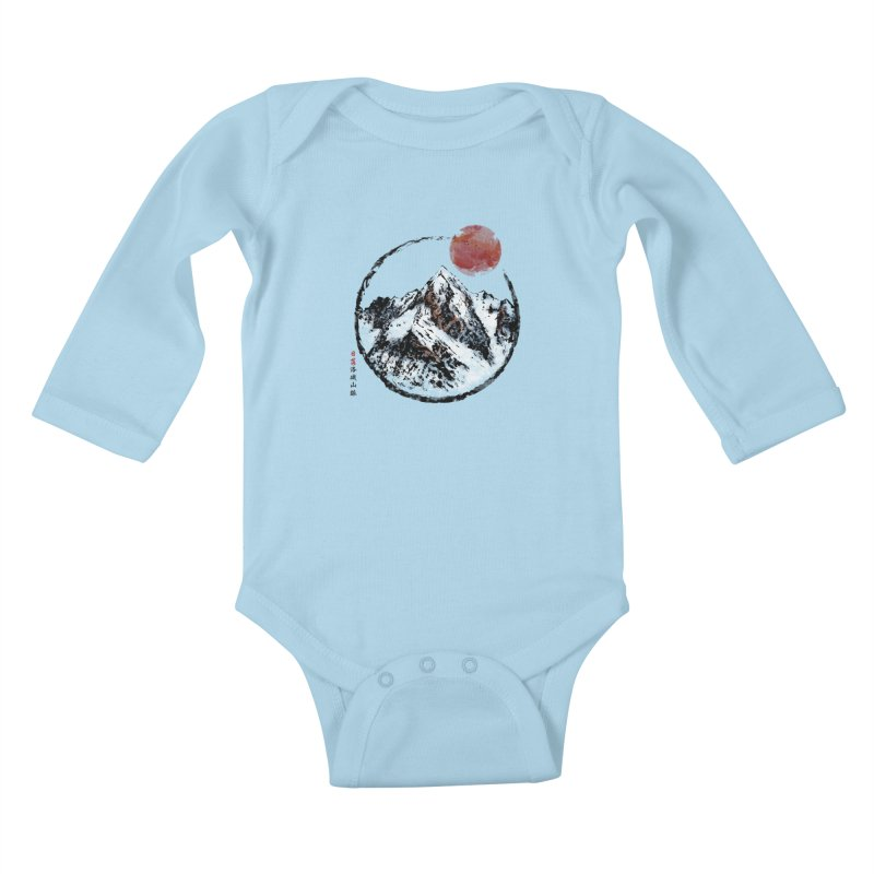 Sunset in Rocky Mountain Kids Baby Longsleeve Bodysuit by Jun087