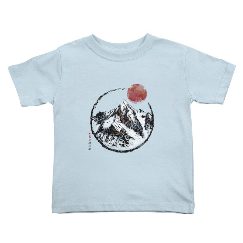 Sunset in Rocky Mountain Kids Toddler T-Shirt by Jun087