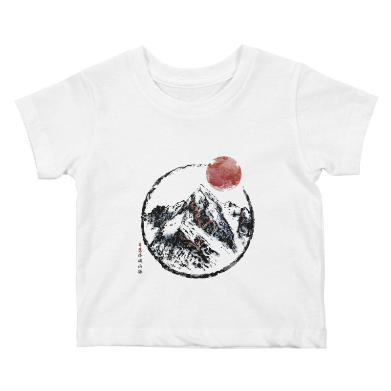 Sunset in Rocky Mountain Kids Baby T-Shirt by Jun087