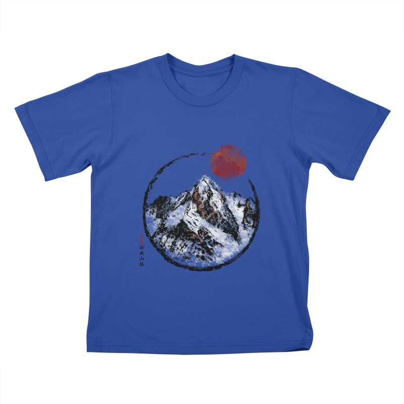 Sunset in Rocky Mountain Kids T-Shirt by Jun087