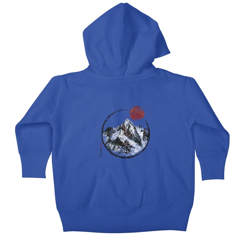 Sunset in Rocky Mountain Kids Baby Zip-Up Hoody by Jun087