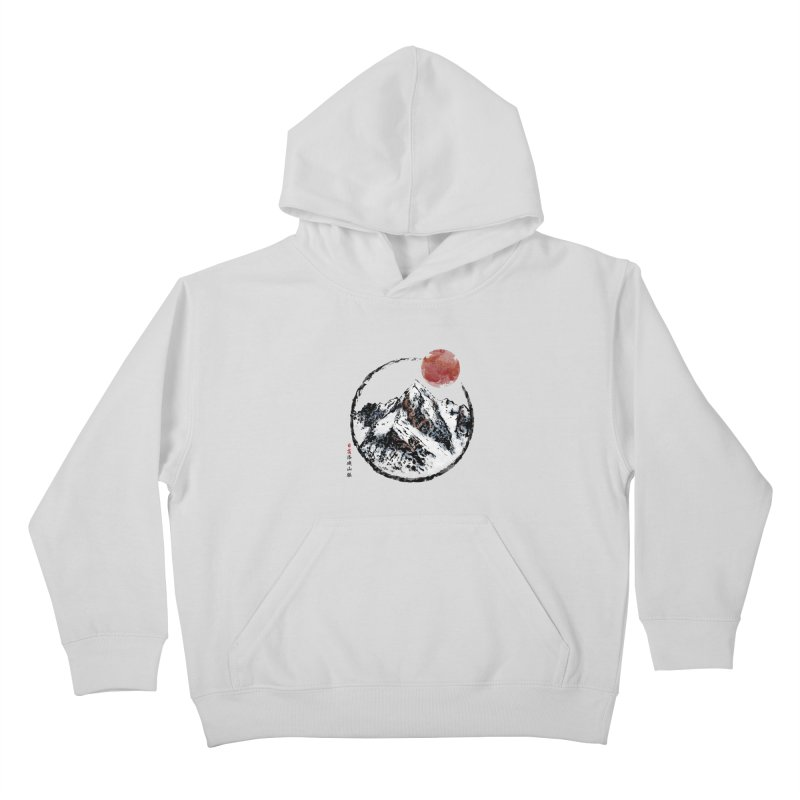 Sunset in Rocky Mountain Kids Pullover Hoody by Jun087