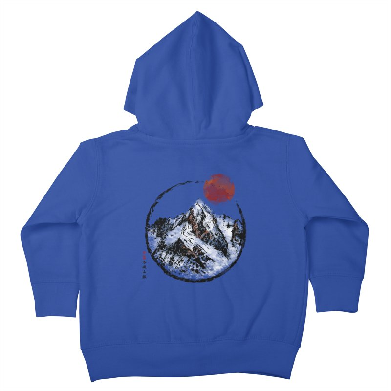 Sunset in Rocky Mountain Kids Toddler Zip-Up Hoody by Jun087