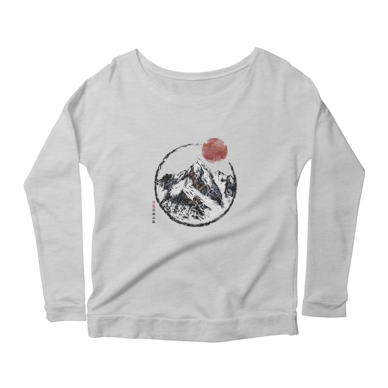 Sunset in Rocky Mountain Women's Scoop Neck Longsleeve T-Shirt by Jun087