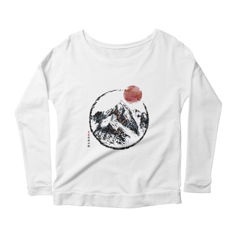 Sunset in Rocky Mountain Women's Scoop Neck Longsleeve T-Shirt by Jun087
