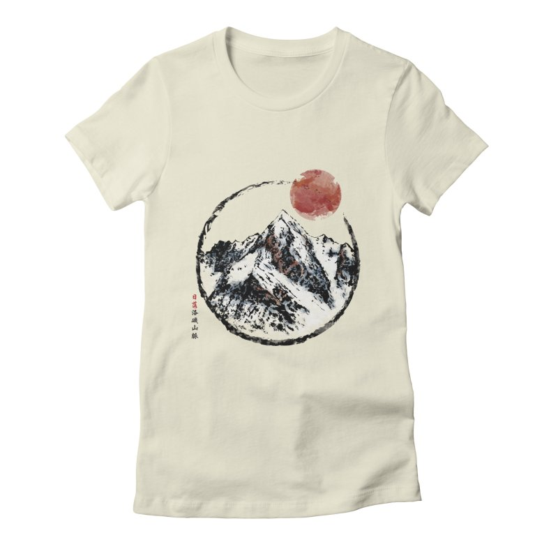 Sunset in Rocky Mountain Women's Fitted T-Shirt by Jun087