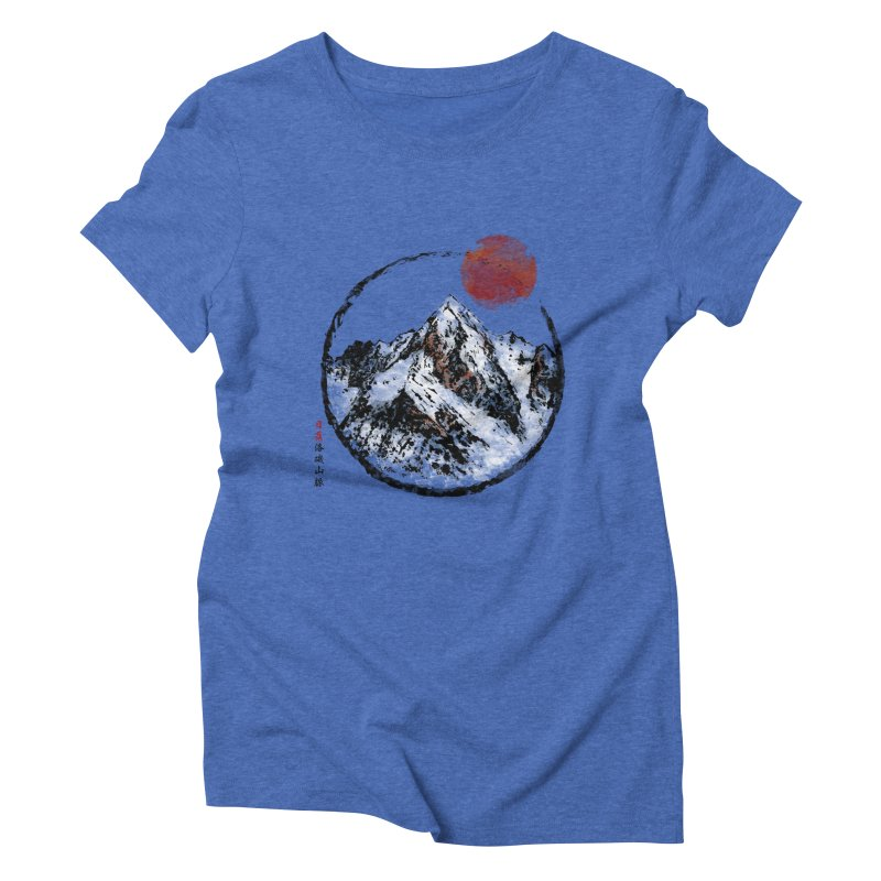 Sunset in Rocky Mountain Women's Triblend T-Shirt by Jun087
