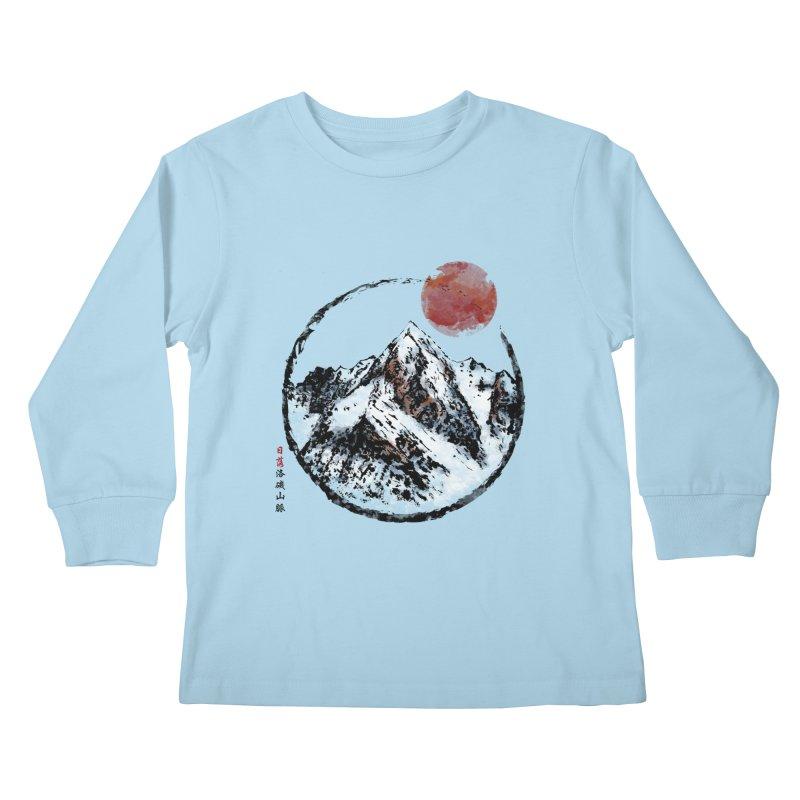 Sunset in Rocky Mountain Kids Longsleeve T-Shirt by Jun087