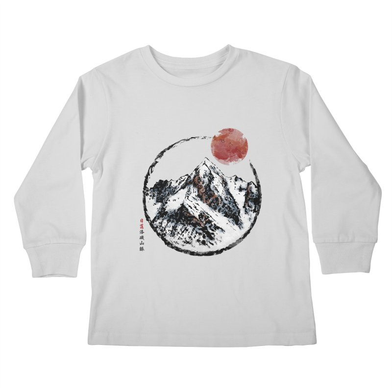 Sunset in Rocky Mountain Kids Longsleeve T-Shirt by Jun087