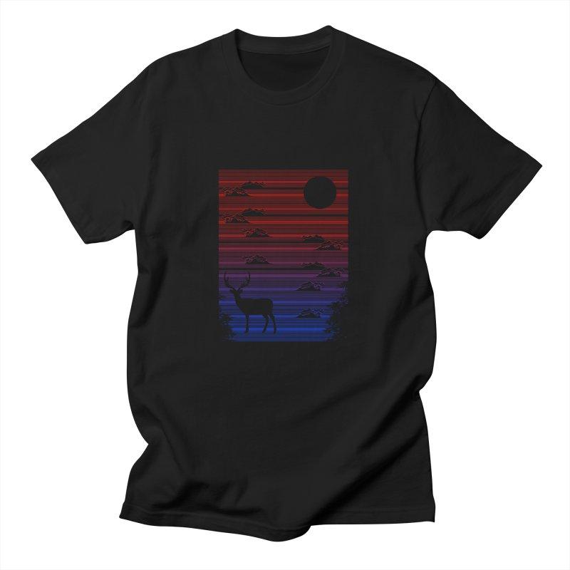 midnight lines  Men's T-shirt by jun21's Artist Shop