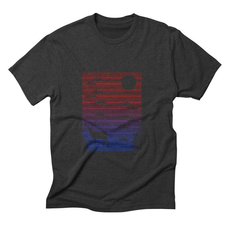 midnight lines  Men's Triblend T-shirt by jun21's Artist Shop