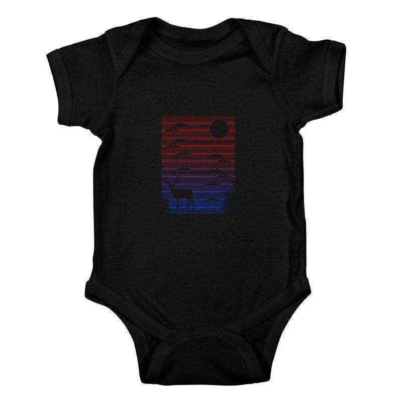 midnight lines  Kids Baby Bodysuit by jun21's Artist Shop