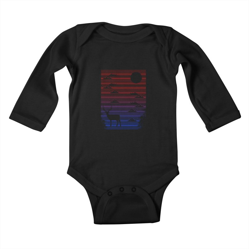 midnight lines  Kids Baby Longsleeve Bodysuit by jun21's Artist Shop