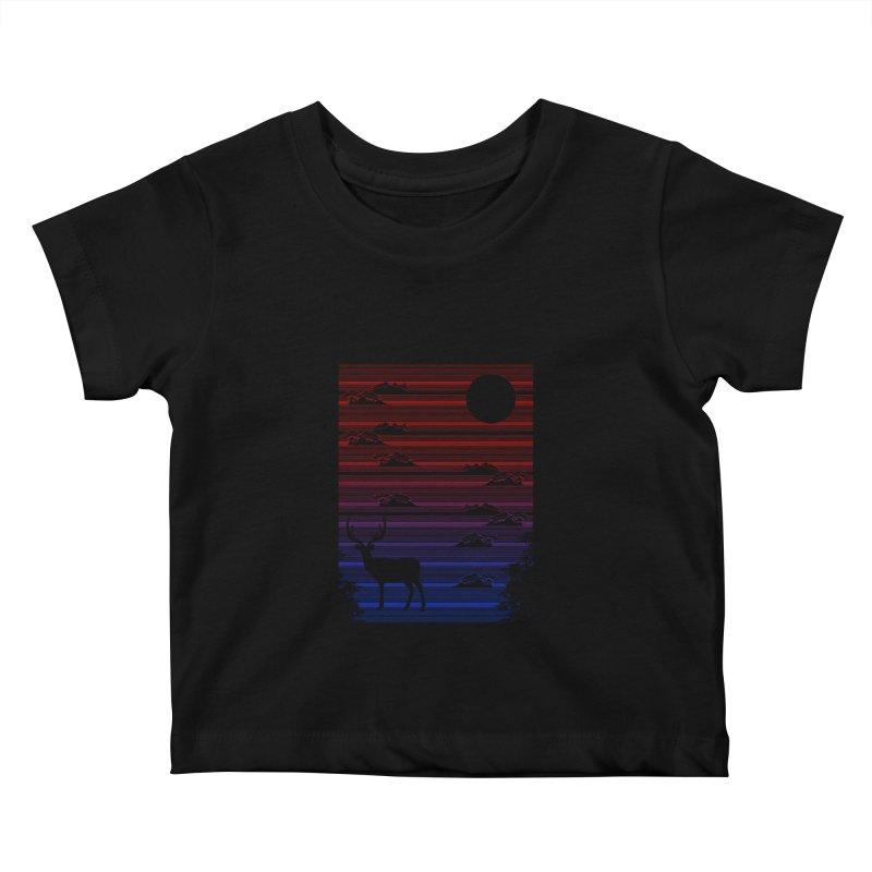 midnight lines  Kids Baby T-Shirt by jun21's Artist Shop