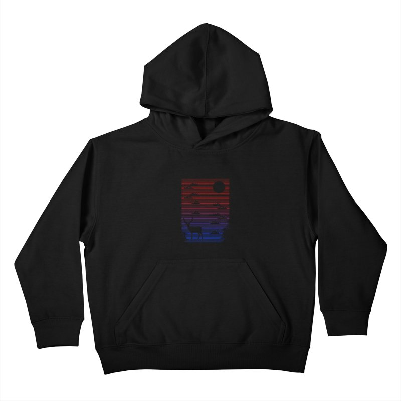midnight lines  Kids Pullover Hoody by jun21's Artist Shop