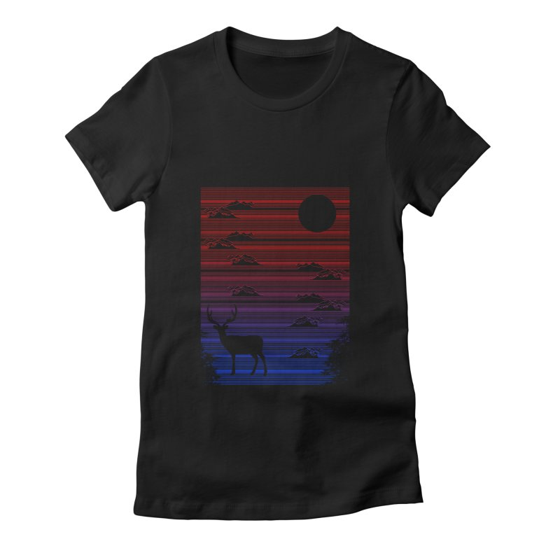 midnight lines  Women's Fitted T-Shirt by jun21's Artist Shop