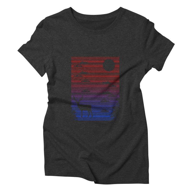 midnight lines  Women's Triblend T-shirt by jun21's Artist Shop