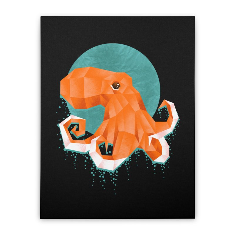 Octogami Home Stretched Canvas by jun21's Artist Shop