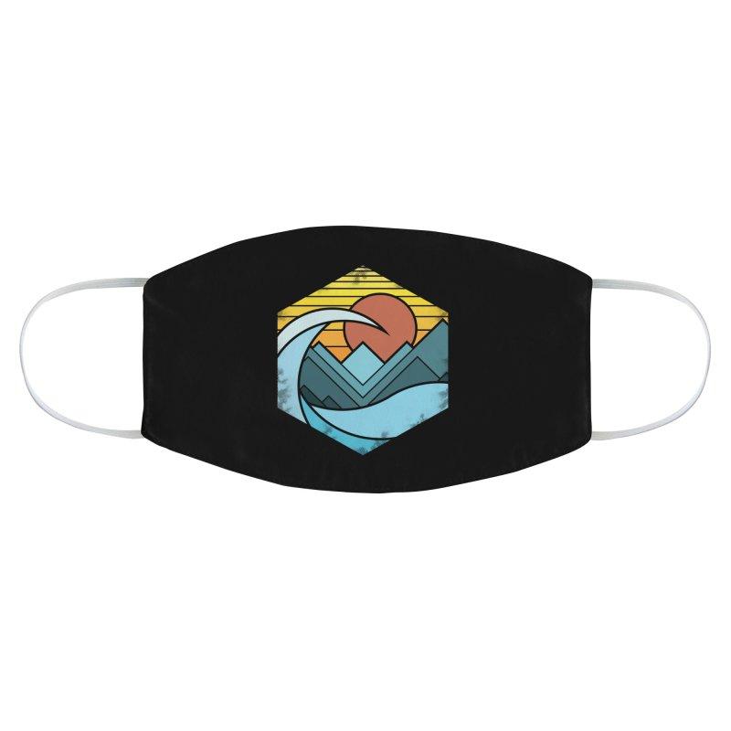 Wave sunset Accessories Face Mask by jun21's Artist Shop