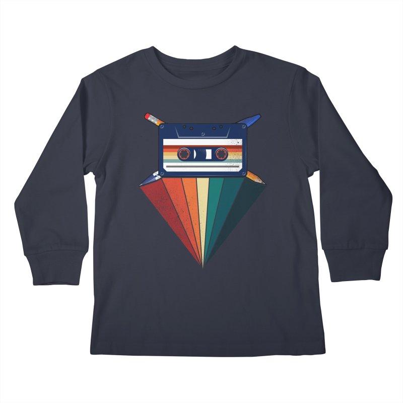 The Old School Kids Longsleeve T-Shirt by jun21's Artist Shop