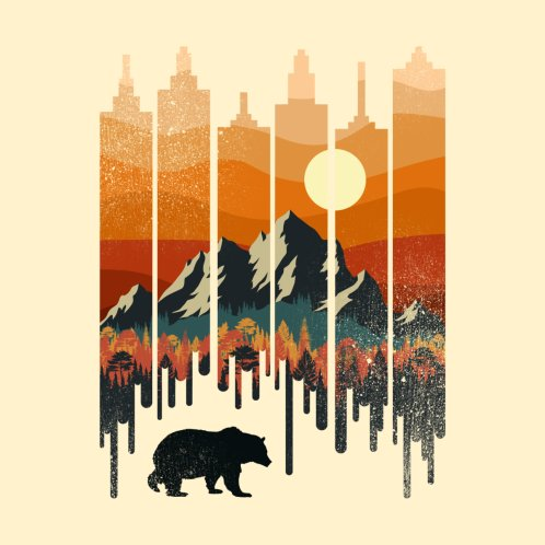 Design for A Wild Bear Sunset City