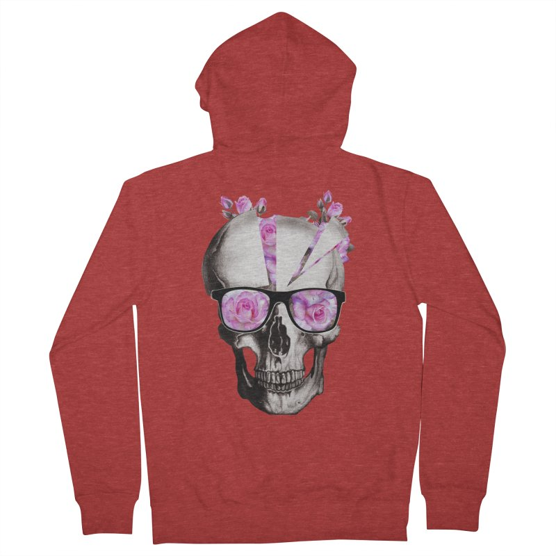 cool skull  Men's Zip-Up Hoody by jun21's Artist Shop