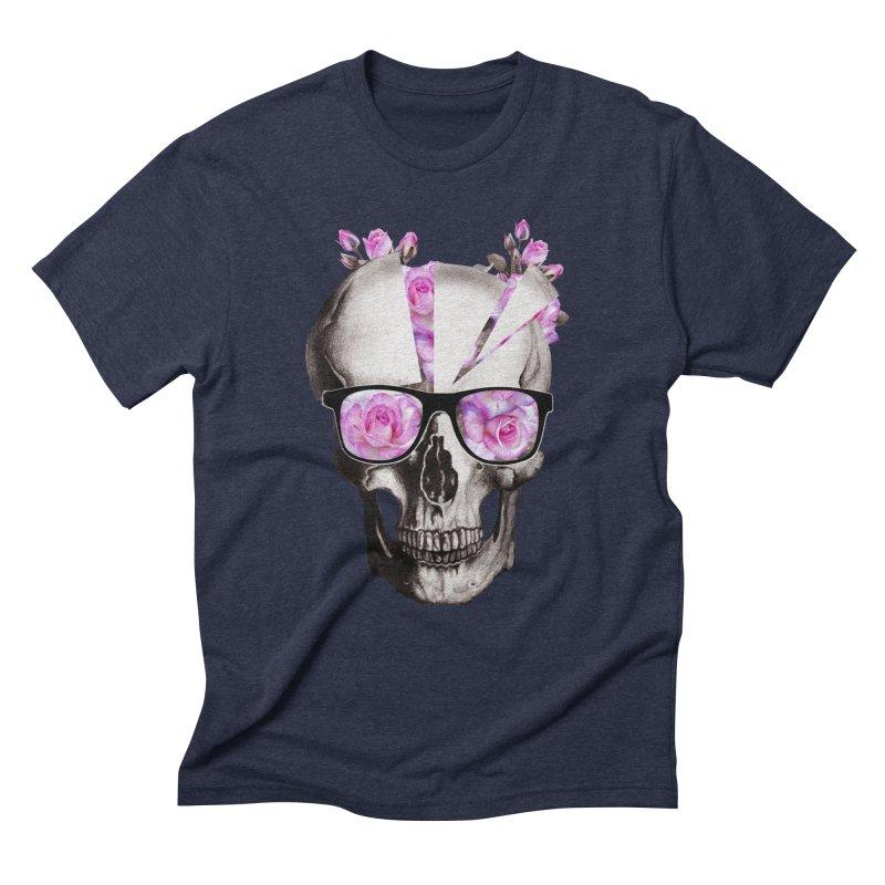 cool skull  Men's Triblend T-shirt by jun21's Artist Shop