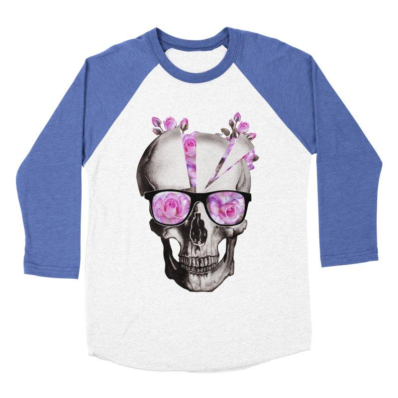 cool skull  Women's Baseball Triblend T-Shirt by jun21's Artist Shop