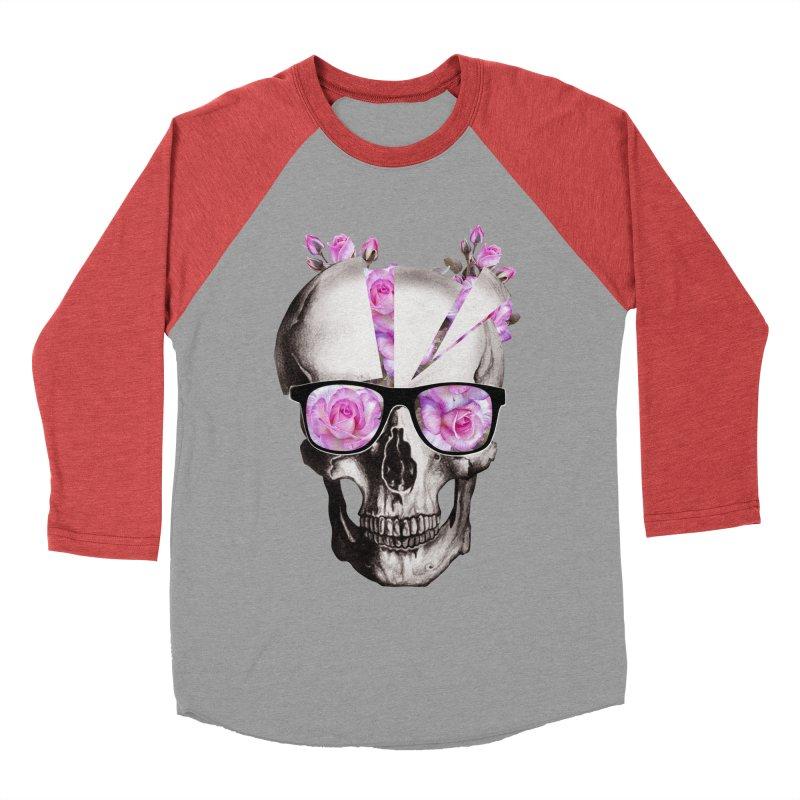 cool skull  Men's Baseball Triblend T-Shirt by jun21's Artist Shop