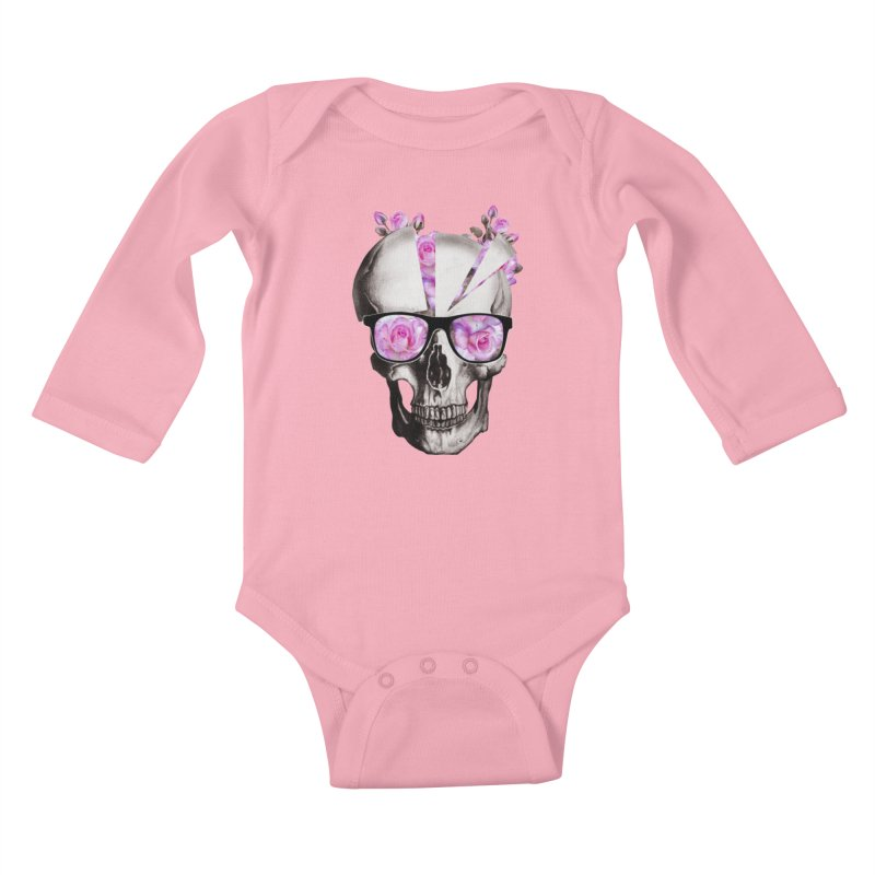 cool skull  Kids Baby Longsleeve Bodysuit by jun21's Artist Shop