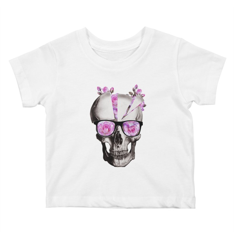 cool skull  Kids Baby T-Shirt by jun21's Artist Shop