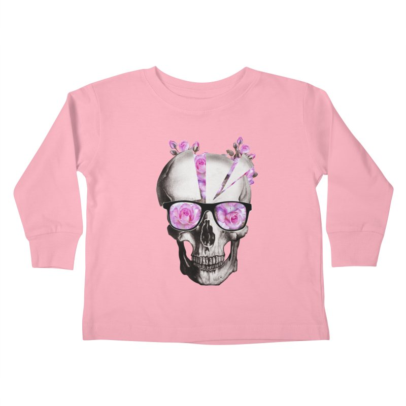 cool skull  Kids Toddler Longsleeve T-Shirt by jun21's Artist Shop